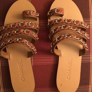 chanel sandals size 38